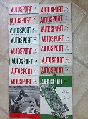 Autosport magazines 1957 - 17 in total.