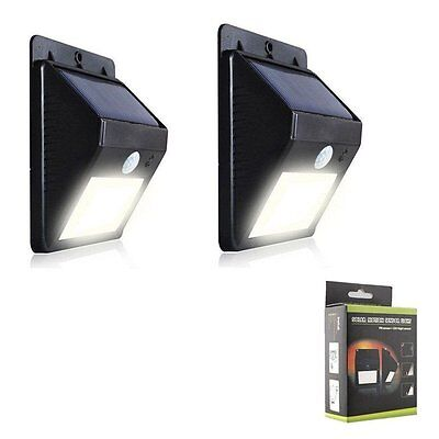 2 solarlampe mit bewegungsmelder 8leds solarleuchte 120 3m sonsor wandlampe eur 6 99. Black Bedroom Furniture Sets. Home Design Ideas