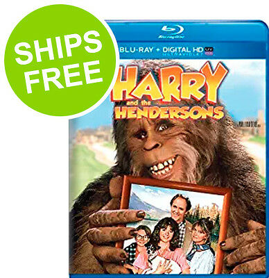 Harry and the Hendersons (Blu-ray + Digital, 2014) NEW, Sealed, John Lithgow
