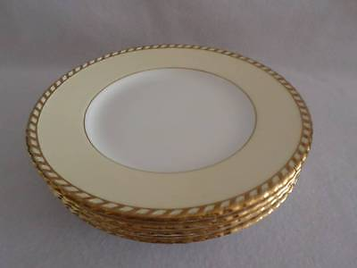 """MINTON ANTIQUE GOLD GILDED WITH PALE YELLOW BORDER DINNER PLATE (s) 10.75"""" MINT"""