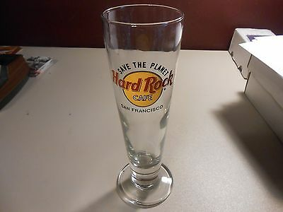 Hard Rock Cafe San Francisco Save The Planet Tall Pillsner Drinking Glass!