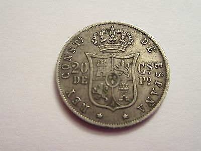 1885 Philippines silver 20 centavos, Alfonso XII