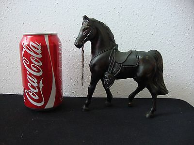 "Vintage Pot Metal Bronze Colored Horse Figurine - Carnival Prize - 6"" Tall"