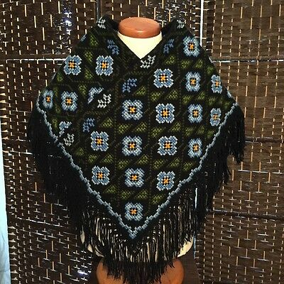 GIRL HAND-EMBROIDERED Cotton HUIPIL Poncho Mexico NWOT