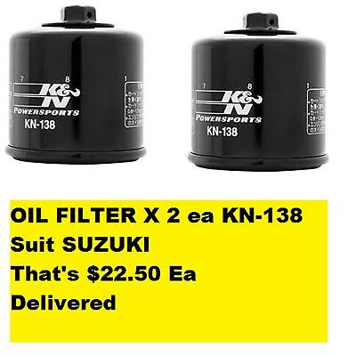 OIL FILTER X 2 ea KN-138 Suit KYMCO That's $22.50 Ea Delivered