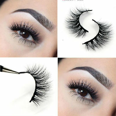 3D MINK False Eyelashes, Layered Wispy Lashes-Long Party ...
