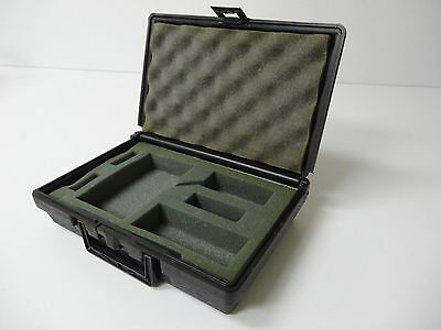 New Black Hard Plastic Tool Storage Carry Carrying Case 12 x 8 x 3 in w/ Foam