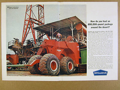 1963 Mobil Oil Libya Mid-Continent Drilling Rig photo BF Goodrich vintage print