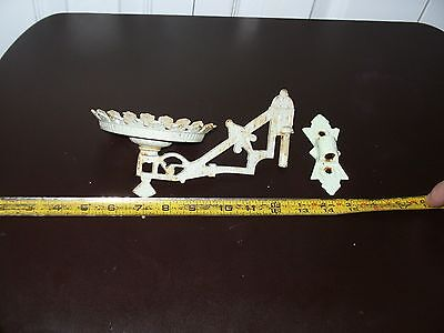 Antique  Oil Lamp Holders Sconce Wall Bracket Eastlake Victorian CAST IRON