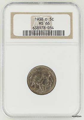 1938-D Indian Head Buffalo Nickel 5C NGC MS66