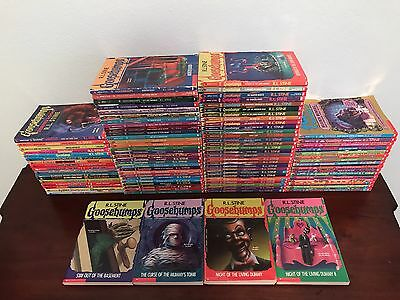 Lot of 101 Books - RL Stine Original Goosebumps, Ghost Of Fear Street & More