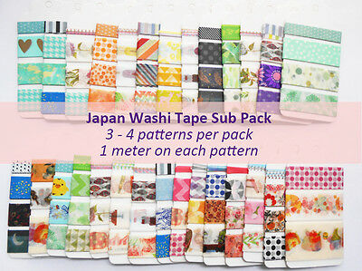 Japan Washi Tape Subpack SP004 - buy 1 get 1 free this month ends Aug 31