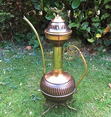 Antique Copper And Brass Rare Unusual Vintage Kettle Or Jug