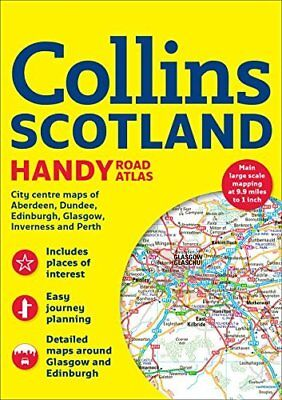 Collins Handy Road Atlas Scotland Collins Ro by Collins Maps New Paperback Book