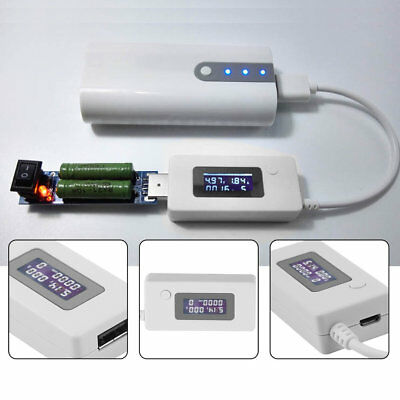 USB Voltage and Current Monitor Tester Detector Mobile Power Capacity Tester WW