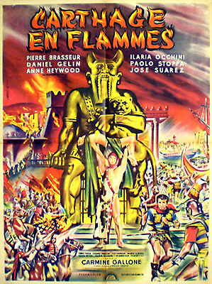 French 1sh Terence Hill in CARTHAGE IN FLAMES (1961)