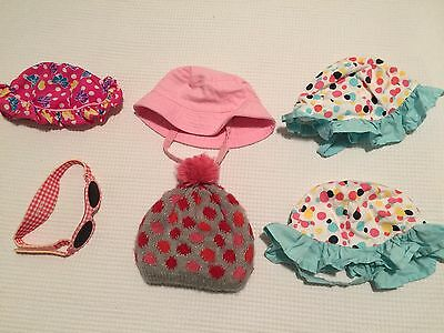 BABY HATS Sunglasses Sunnies Beanie BULK BUY bundle lot 3-6 & 6-12 Months