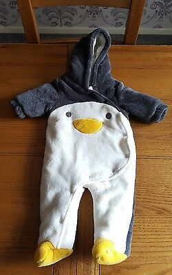 Next Baby Penguin Snowsuit Unisex Up To 3 Months 6kg / 14lbs. Beautiful!