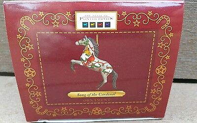 """TRAIL OF THE PAINTED PONIES  """"Song of the Cardinal """" Resin Christmas Ornament"""