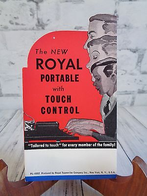 Advertisement Blotter Card Unused Royal Touch Control Typewriter, Royal Model B