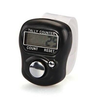 Digital  Finger Ring Tally Counter black color Hand Held Knitting mix colour