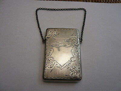 Antique Vintage Old Solid Sterling Silver Call Card Case Hallmarked 1904 67 Gram