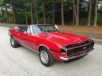 1967 Chevrolet Camaro RS Rally Sport Convertible 1967 RS Rally Sport Camaro Convertible 350 4 Speed Muncie Bolero Red