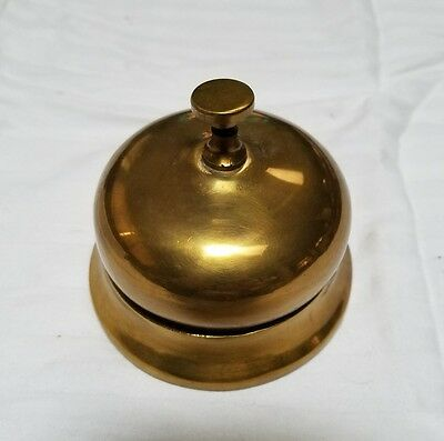 Decorative Brass Ding Ding School Or Counter Work Store Push Button Large Bell