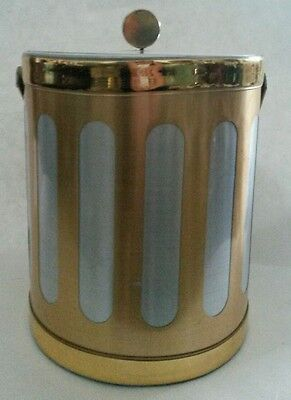 Mid Century Georges Briard Brushed Brass & Aluminum Ice Bucket