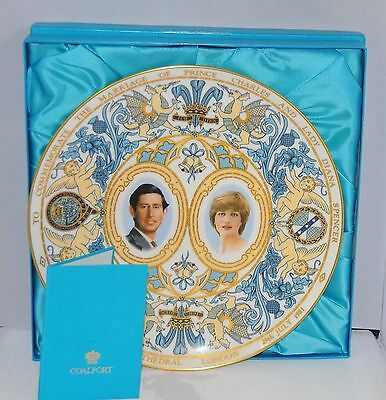 COALPORT PLATE  Commemorate The Marriage Prince Charles Of Wales/Princess Diana