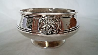Arts & Crafts 1916 Robinson & Co Hammered Sterling / Solid Siver Bowl