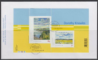 Canada #2148 Art Canada Dorothy Knowles Souvenir Sheet First Day Cover