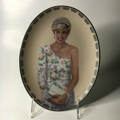 A Princess To Cherish Diana Queen of Our Hearts Oval Plate by Bradford Exchange