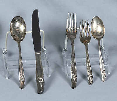 Rogers Bros IS Reinforced Silverplate Mixed Lot of Flatware 12 Pieces
