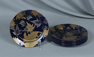 Yamasen Gold Collection Fine Porcelain 24 CT Gold Plated Salad Plates Set of 6
