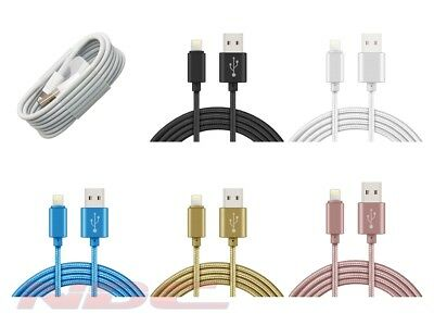 Premium Strong Metal Braided USB-Lightning Charger/Charging Data 1-3M Long Cable