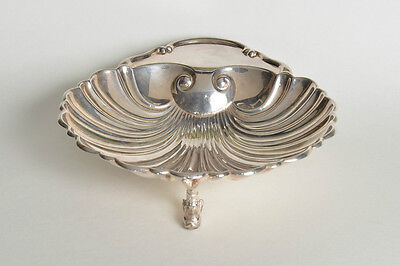 Crescent Silverplate Shrimp Serving Dish Bowl Fish Footed