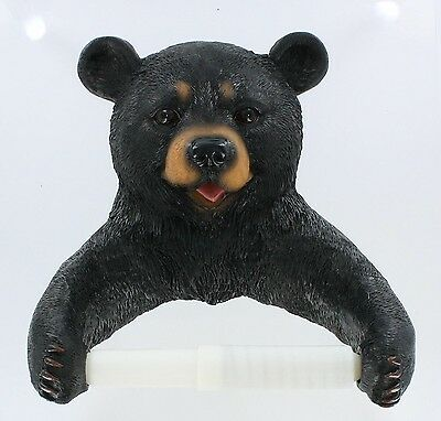 Black Bear Bathroom Toilet Paper Holder DWK new FREE SHIPPING