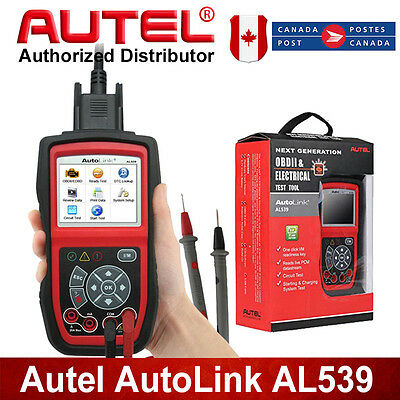 Autel  AL539 OBDII Diagnostic Tool Electrical Battery Test For Toyota BMW Ford