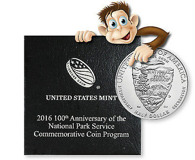 2016-D 100th Anniversary National Park Uncirculated Half Dollar (With Box & COA)