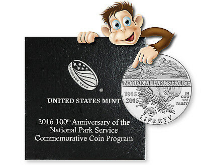 2016-S 100th Anniversary National Park Proof Half Dollar -- With Box and COA