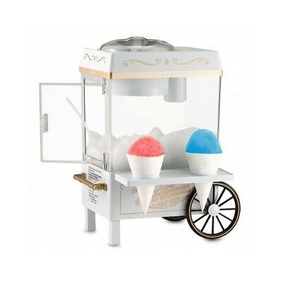 Ice Cone Snow Maker Machine Shaver Crusher Electric Shaved Shaving Nostalgia New