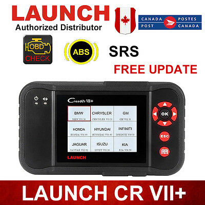 Launch VII+ OBD2 Car Diagnostic Creader Engine Trans ABS SRS For Ford BMW VW GM