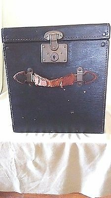 Antique Victorian Leather Top Hat Case Box