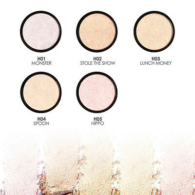 Fashion 5Color Illuminating Pressed Face Highlight Powder Easy to Wear Makeup TP