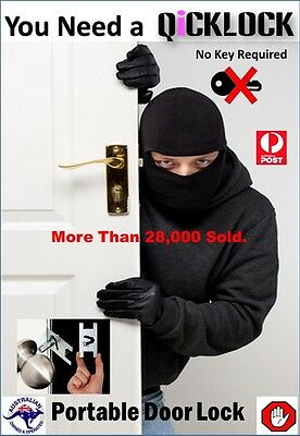 Travel lock Special Price.. No Key Required Portable Door Lock,Made From Steel