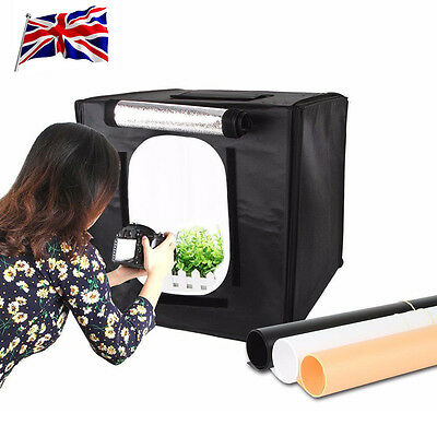 UK 50*50cm Mini Portable LED Photography Studio Light Diffuser Soft Box Tent Kit