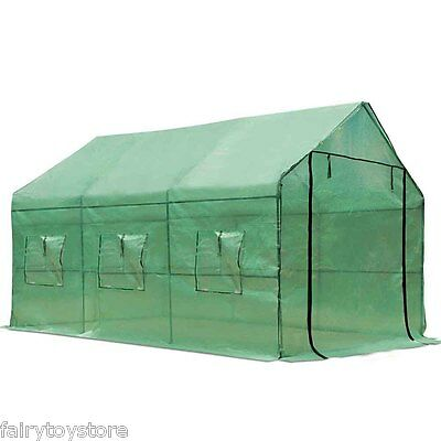 Large Greenhouse Garden Walk-In Tunnel Green Hot Plant House Shed Storage AU