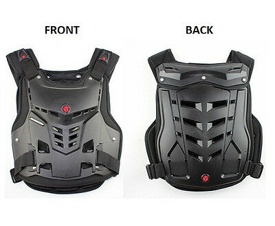 Motorcycle Motor Bike Riding Black Spine Chest Armor Biker Protective Gear SCYC