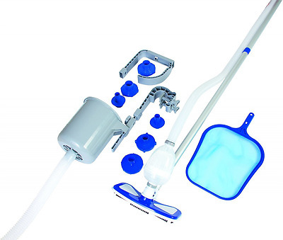 Above Ground Deluxe Swimming Pool Cleaning Vacuum & Maintenance Accessories Kit